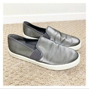 Vince Blair Metallic Slip On Sneaker Gray Size 7